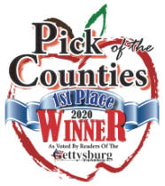 2020 Gettysburg Times Pick of the Counties 1st Place Winner for Best Massage Therapist